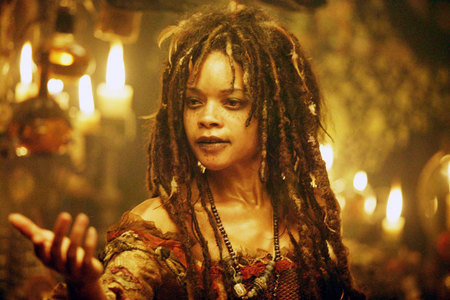 Calypso, from the Pirates of the Caribbean films. An Obeah woman.