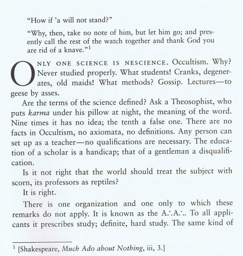 Essay on Occultism - Equinox Vol. 4 No. 1, pp. 1-4